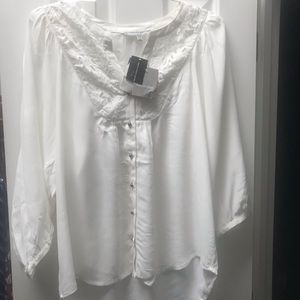 Cutwork Placate Blouse from South Moon Under